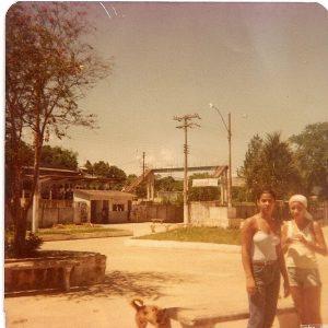 Jardim Primavera nos anos de 1980(estação ao fundo)