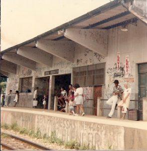 Estação de Jardim Primavera nos anos de 1980