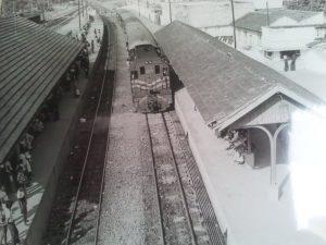 Estação de Saracuruna nos anos de 1980.